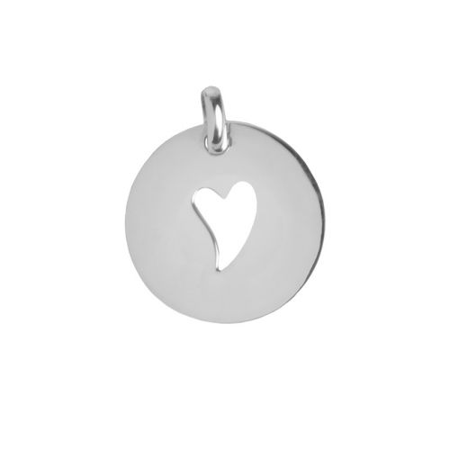 Sterling Silver 925 Irregular Heart Cut Out Charm 20mm Pk1