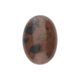Brown obsidian / cabochon / oval / 18x25x6.5mm / 1pcs