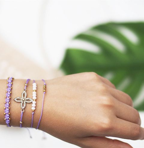 How to make an adjustable bracelet - Minimalist macrame bracelet