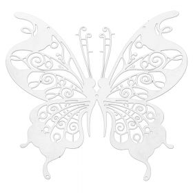 Butterfly / pendant filigree / surgical steel / 45x46mm / silver/ 1pcs