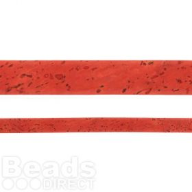 Coral Cork Effect Soft Flat Cord 10mm 1metre