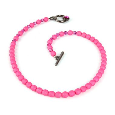Fuchsia Crystal Necklace