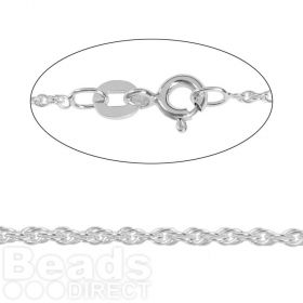 Sterling Silver Fine Rope Chain with Clasp 18inches