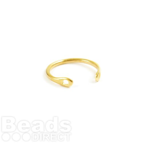 Gold Plated Brass Ring Base Two Hole 2x20mm Pk1