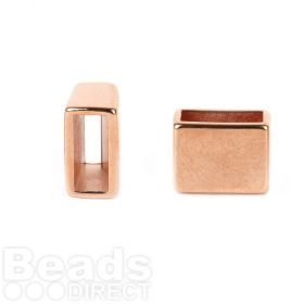 Rose Gold Plated Zamak End Bead Stopper/Slider 7x9x12mm Pk2