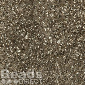 Preciosa Twin Hole Seed Beads Silver Lined Grey 2.5x5mm 10g
