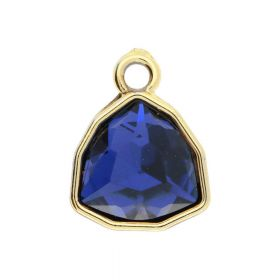Glamm ™ Spotlight / charm pendant / with zircons / 18.5x14.5x7.5mm / gold plated / Sapphire / 1pcs