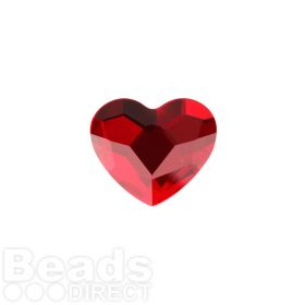 2808 Swarovski Crystal Non-HF Heart 14mm Light Siam F Pk2
