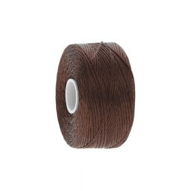 BEADSMITH ™ / thread S-LON D / nylon / Tex 45 / Chestnut / 70m
