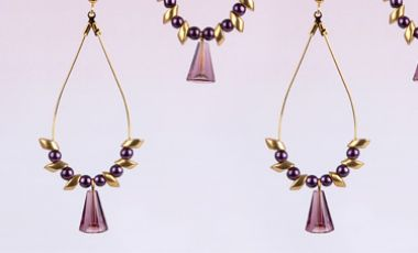 Amethyst Drop Earrings | Mini-Make Monday