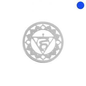Sterling Silver 925 'Ether' Small Chakra Connector 15mm Pk1