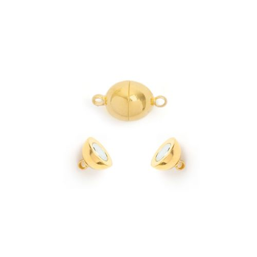 Gold Plated Magnetic Ball Clasp 6mm Pk1