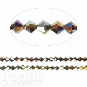 Essential Crystal 4mm Bicones Jet AB Pk120