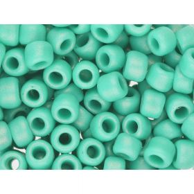TOHO™ / Round 8/0 / HYBRID Sueded Gold Opaque / Turquoise / 10g