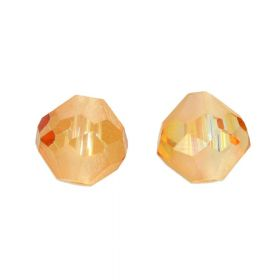 CrystaLove ™ / frosted / glass crystals / diamond / 10mm / Tea / opalescent / 4pcs