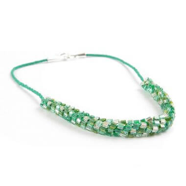 Evergreen Kumihimo Necklace