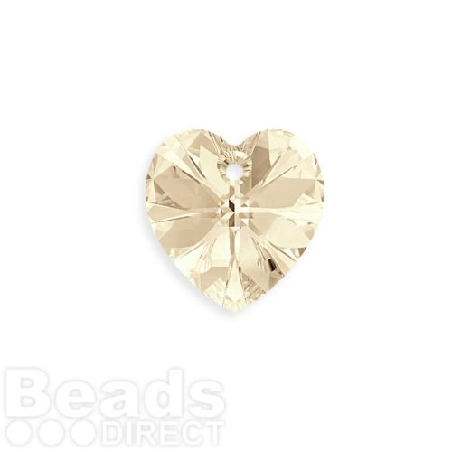 6228 Swarovski Crystal Heart 17.5x18mm Light Silk Pk1
