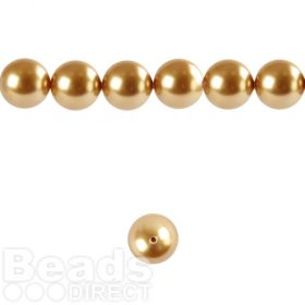 5810 Swarovski Crystal Pearl 4mm Bright Gold Pk50