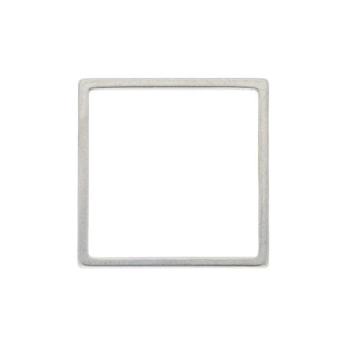 Square / geometric base / surgical steel / 20x20mm / silver / 2pcs
