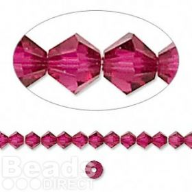 5328 Swarovski Crystal Bicones Xillion 4mm Ruby Pk24