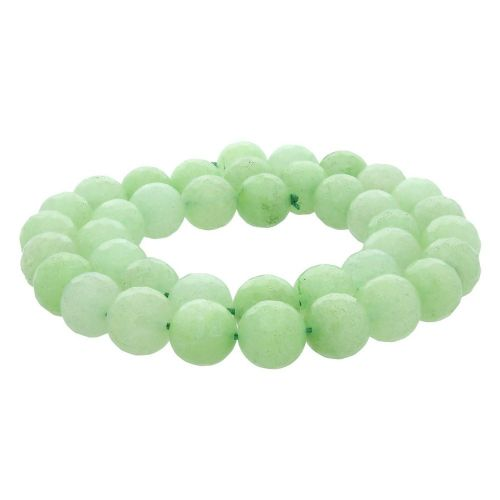 Agate / faceted round / 10mm / light green / 35pcs
