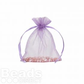 "Lilac Organza Bag 3""x4"" Pack 5"