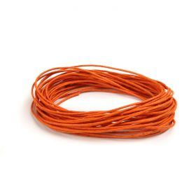 Waxed Cotton Cord 1mm Orange 5metres