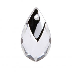 6565 Swarovski Crystal Pear Shaped Pendant 22mm Crystal with Light Chrome Metallic Cap Z Pk1