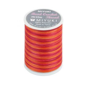 Miyuki Bead Crochet Polyester Thread 0.45mm Orange Mix 25metres