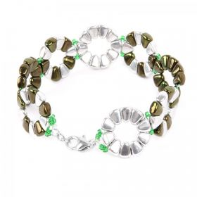 Silvery Green Bubble Bracelet Take a Make Break Kit Makes x1