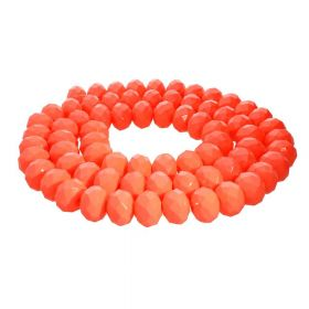 Milly™ / rondelle / 8x10mm / neon orange / 70pcs