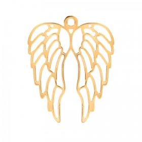 Gold Plated Large Angel Wings Charm 46x57mm Pk1