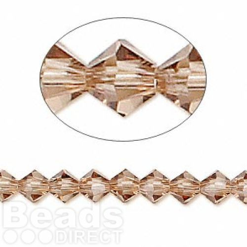 5328 Swarovski Crystal Bicones Xillion 4mm Light Smoked Topaz Pk24
