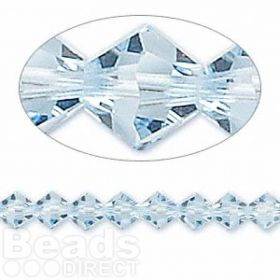 5328 Swarovski Crystal Bicones Xillion 6mm Aquamarine Pk24