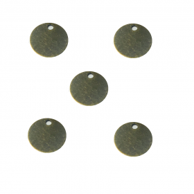 Flat disc / antique bronze / pendant charm / 8mm / 20pcs