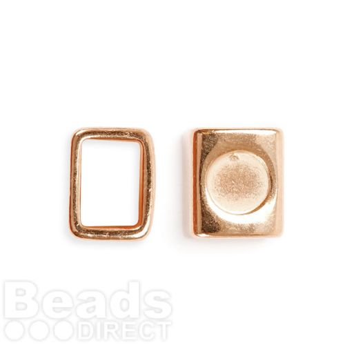 Rose Gold Plated Zamak Charm Ring Holds SS39 10x13x15mm Pk1