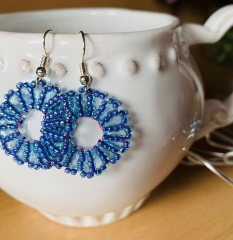 Spring Dreams Earrings - How To Make Earrings with Seed Beads