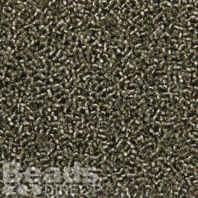 Toho Size 15 Round Seed Beads Silver-Lined Grey 10g
