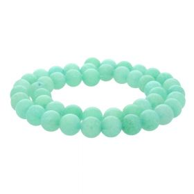 Agate / round / 8mm / turquoise / 48pcs