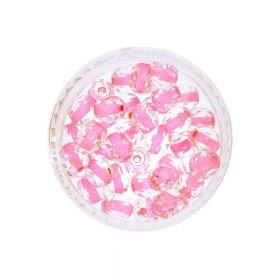 Firepolish ™ / 4mm / Inside Colour Crystal / Pink / 40pcs