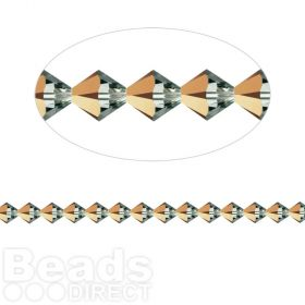 5328 Swarovski Crystal Bicones Xillion 4mm Rose Gold Pk24