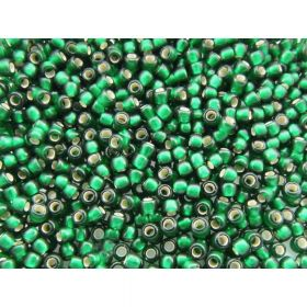 10g Size 15//0 Frosted Lime Green Toho Japanese Seed Beads 1.5 mm