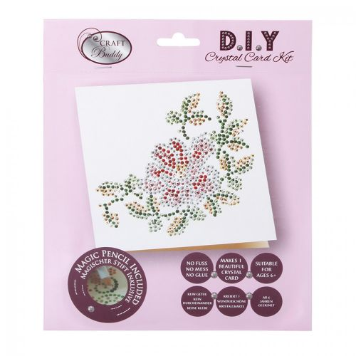 Beads Direct Flower & Leaves White Crystal Card Kit