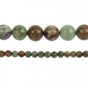 "Green Opal Semi Precious Round Beads 10mm 15"" Strand"