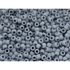 TOHO ™ / Round 8/0 / Opaque-Frosted / grey / 10g / ~ 300pcs