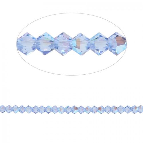 5328 Swarovski Crystal Bicone Beads 3mm Light Sapphire Shimmer Pk24