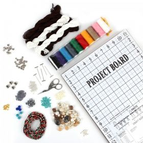 Beads Direct Macrame Mega Beading Bundle Includes Board & Scissors and More