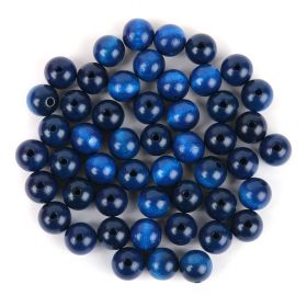 Preciosa Wood Beads 12mm Blue Pk50