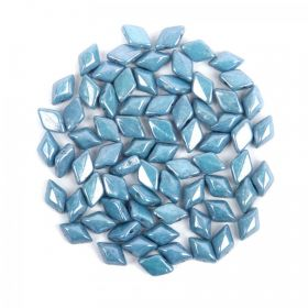 Opaque Blue Luster Matubo GemDuo Beads 5x8mm 10g