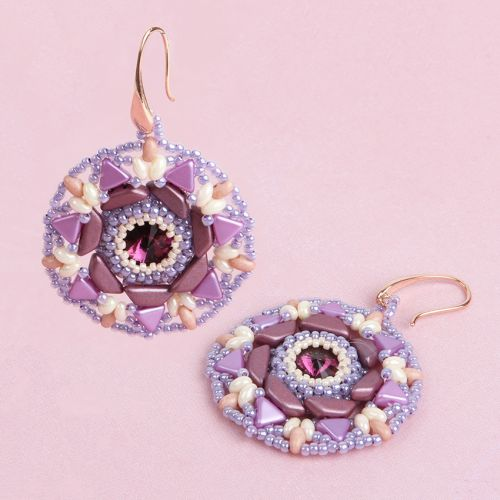 X- Purple Astrid Earrings Kit - Makes x1 Pair